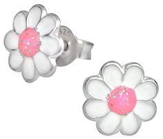 Little .925 Sterling Silver Pink and White Purple Glitter Daisy Flower Stud Earrings for Girls - Nickel Free Children's Earrings Kinzie Fashion http://www.amazon.com/dp/B00O6EROAU/ref=cm_sw_r_pi_dp_pR0zvb1914Y3Z