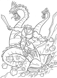 86 best Disney Hercules coloring pages Disney images on Pinterest in ...