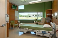 Patient rooms design in contemporary hospital