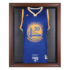 Golden State Warriors Fanatics Authentic 2015 NBA Finals Champions Logo Brown Framed Jersey Display Case - $159.99