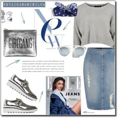 How To Wear Denim + Silver Outfit Idea 2017 - Fashion Trends Ready To Wear For Plus Size, Curvy Women Over 20, 30, 40, 50