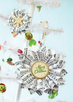 paper rosette ornaments