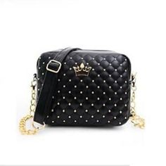 Small Women Bag Fashion Handbag With Crown Mini Rivet Shoulder Bag Women Messenger Bag