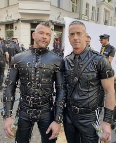 We rarely get to do this together. So nice to have my husband along for the ride this time. Mens Leather Pants, Biker Leather, Black Leather, Fantasy Art Men, Preppy Men, Older Men, Black Men, Beautiful Men, Sexy Men