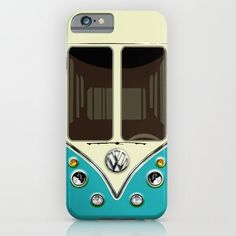 Amazon.com: Society6 - Sale For Charity! Blue Teal Vw Volkswagen Mini Van… iPhone 6 Case by Three Second: Cell Phones & Accessories