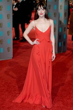 Seriously - how gorgeous does Dakota Johnson look in @Dior? at #EEBAFTAs