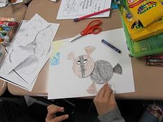 Students create jungle animals using circles, then write a recipe for their creation using fractions!