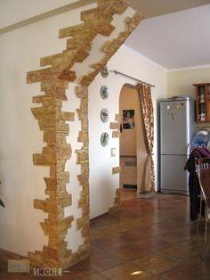 Из декоративного камня арка. Отделка арки декоративным камнем.