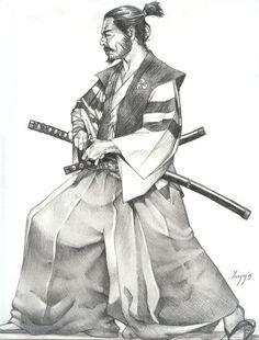 Samurai by igoryglesias on DeviantArt - Katana Samurai Drawing, Warrior Drawing, Samurai Artwork, Aikido, Samourai Tattoo, Samurai Warrior Tattoo, Japanese Warrior Tattoo, Tattoo Japanese, Ronin Samurai