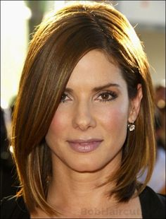 Sandra Bullock ... winter hair cut idea: cutting off the ombre ...