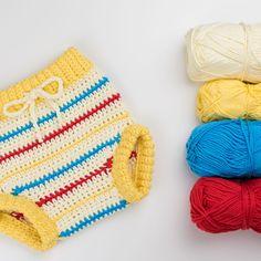 Free Pattern: Retro Chic Crochet Baby Pants – Croby Patterns