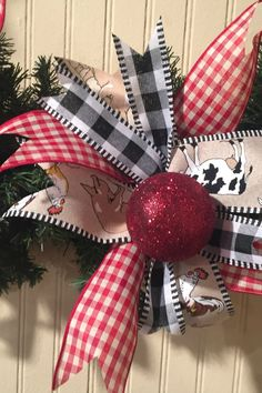 christmas tree ideas with mesh Buffalo Check Ribbo - christmastreeideas Dollar Store Christmas, Christmas Ribbon, Plaid Christmas, Rustic Christmas, Christmas Holidays, Christmas Wreaths, Christmas Crafts, Christmas Ornaments, Christmas Ideas