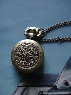 10% OFF of all items, please use coupon code: READYTS at check out •~ Necklace Pendant Flower Pocket Watch quartz by Azuraccessories, $5.93