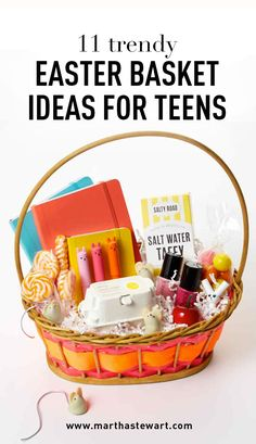 11 Trendy Easter Basket Ideas for Teens   Martha Stewart Living - Think she's too old for an Easter basket? Think again!