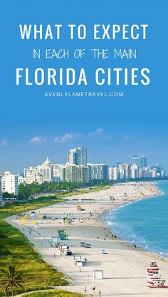 Florida attracts 100 million visitors a year! That is a lot of people visiting the Sunshine State. See what you can expect in 6 popular Florida Cities. Florida Vacation Spots, Florida Travel Guide, Florida City, Florida Beaches, Vacation Trips, Day Trips, Visit Florida, Vacations, Cool Places To Visit