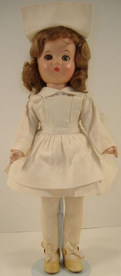 "Vintage1940s 12"" Effanbee Portrait Composition Nurse Doll"
