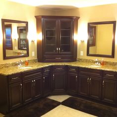 his and hers sinks. not the style, but the layout