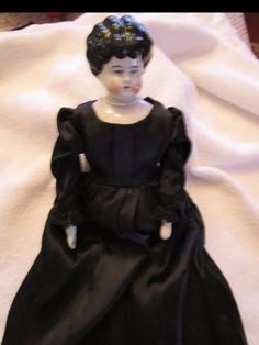 Beautiful Antique Porcelain Doll from the 1800's, 14' tall, Beautiful Condition