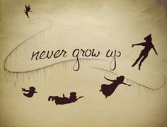 Peter pan tattoo-- I'm typically against getting Disney characters or things of that nature but I LOVE THIS IDEA!