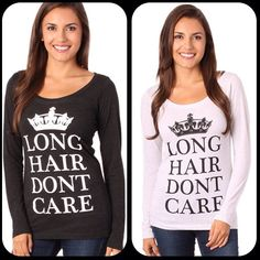 Long Hair Don't Care Keep Calm Long Sleeve. #crown #clothing #longhairdontcare #lhdc #LHDCclothing ⭐️www.LHDC.com⭐️