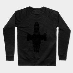 Shiny Rorschach Ship Crewneck Sweatshirt