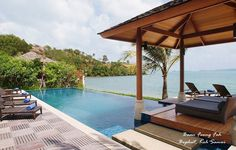 Baan Feung Fah (Bophut, Koh #Samui) sits proud in the prestigious Dhevatara Residence Estate, and provides guests with top notch #accommodation in a relaxed, beautiful #oceanfront location.
