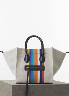 Borse Celine collezione primavera estate 2015 tra it-bag e new entry Celine medium Luggage phantom handbag in multicolour textile 1400.00 euro