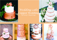 Copper Wedding Cake, Gold Wedding, Marie, Wedding Cakes, Rose Gold, Table Decorations, Shit Happens, Inspiration, Wedding Gown Cakes