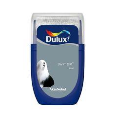 Dulux Once Polished pebble Matt Emulsion paint Tester pot Olives, Chic Shadow, Denim Drift, Copper Blush, Pots, Polished Pebble, Paint Samples, Paint Stain, Organisation
