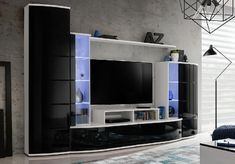 Browse modern and classic living room wall units for tv & entertainment center Tv Stand And Entertainment Center, Entertainment Center Wall Unit, Entertainment Room, Vitrine Led, Living Room Wall Units, Tv Wall Design, Classic Living Room, Modern Tv, Modern Wall