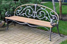Wrought Iron Bench, Cast Iron Bench, Wrought Iron Decor, Wrought Iron Gates, Lawn Furniture, Steel Furniture, Unique Furniture, Banquettes, Garden Chairs