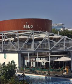 Silo restaurant in La Park, Holon Marina Bay Sands, Israel, Restaurant, Park, Building, Diner Restaurant, Buildings, Parks, Restaurants