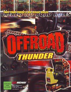 On Sale... OFFROAD THUNDER By MIDWAY 1999 ORIGINAL NOS VIDEO ARCADE GAME FLYER #OffRoadThunder #VideoGameFlyer