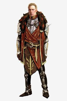 Cullen concept art in The Art of Dragon Age: Inquisition