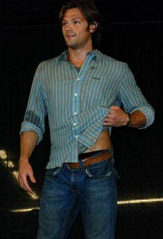 Where's Jensen with the towel? #JaredPadalecki