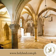 "Day 5 ~ FACT ABOUT THE HOLY LAND: The Cenacle, also known as the ""Upper Room"", is a room in Jerusalem traditionally held to be the site of The Last Supper."