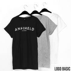 Logo Basic // BLACK: http://antiheld-couture.com/shop/unisex-shirts/148-antiheld-logo-basic-roll-sleeve-shirt-schwarz.html GREY: http://antiheld-couture.com/shop/unisex-shirts/147-antiheld-logo-basic-roll-sleeve-shirt-grau.html WHITE: http://antiheld-couture.com/shop/unisex-shirts/149-antiheld-logo-basic-roll-sleeve-shirt-weiss.html