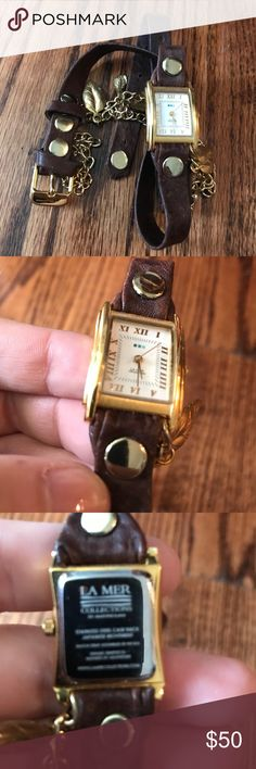 Gold Leaf La Mer Watch Great condition. Worn 1-2 times. Sold as is. La Mer Accessories Watches