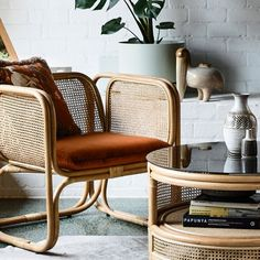 Rattan and cane furniture has been one of the biggest interior trends of 2018 and it's showing no sign of going anywhere soon! While it's easy to associate rattan and… Rattan Furniture, Living Furniture, Furniture Plans, Rustic Furniture, Luxury Furniture, Modern Furniture, Furniture Design, Furniture Stores, Outdoor Furniture