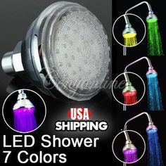 'Romantic LED Glow Water Shower Head 7 color' is going up for auction at  5pm Sun, May 5 with a starting bid of $12.