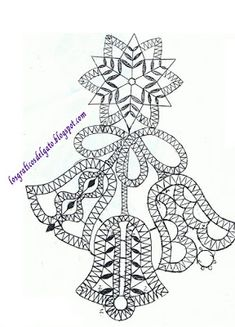 los gráficos del gato: NAVIDAD BOLILLOS Crochet Angels, Irish Crochet, Crochet Lace, Bobbin Lace Patterns, Embroidery Patterns, Bruges Lace, Lacemaking, Point Lace, Lace Jewelry