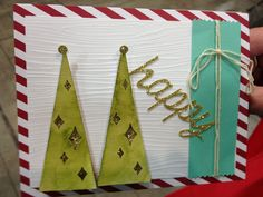 Stampin' Up! demonstrator Crystal G's project showing a fun alternate use for the Watercolor Winter Simply Created Card Kit.