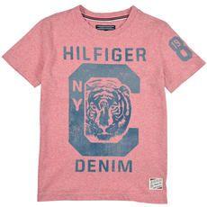 Tommy Hilfiger - Tee-shirt manches courtes en coton uni - 109234