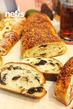 Walnut Olive Bread (Not Stale) - Delicious Recipes - Ekmek Tarifleri - Olive Bread, Turkish Kitchen, Savory Pastry, Happy Foods, Hot Dog Buns, Bread Recipes, Bakery, Brunch, Yummy Food