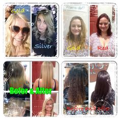 Four of my favorite before and Afters. Hair by Krista Gasca. Arte Salon.