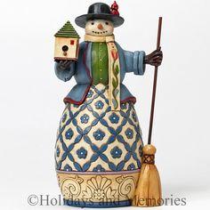 Williamsburg Snowman with Birdhouse Figurine by Jim Shore 4041131