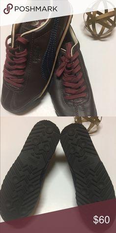 NWOT Puma Sneakers Leather-Upper. Rubber-Sole. Denim stripe. Puma Shoes Sneakers