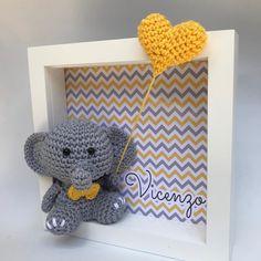 Crochet Animal Patterns, Stuffed Animal Patterns, Crochet Patterns Amigurumi, Crochet Animals, Crochet Fairy, Cute Crochet, Crochet Wall Art, Baby Door, Baby Memories