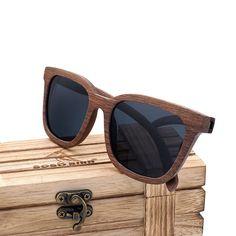 Black Walnut Wood Polarized Sunglasses