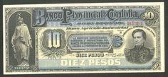 Argentina, Banknote, 10 Pesos 1889 Cordoba, Pick S743, Very Scarce, XF++ !